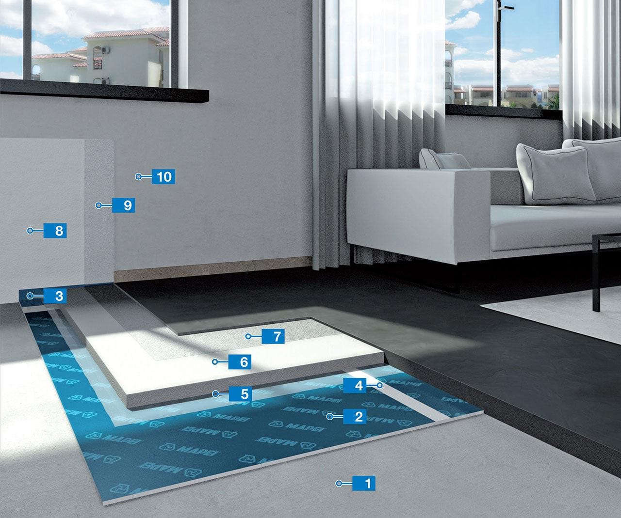 Realizzazione di pavimenti in resina ad elevato effetto for Resina mapei