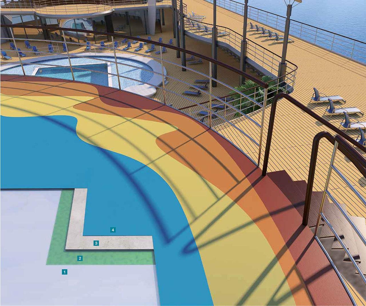 Applicazione resine su ponti esterni mapei - Resine per terrazzi esterni ...