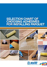 Selection chart of choosing adhesives for installing parquet