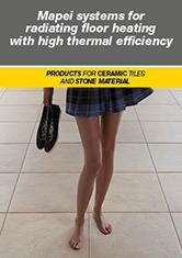 Mapei systems for radiating floor heating with high thermal efficiency