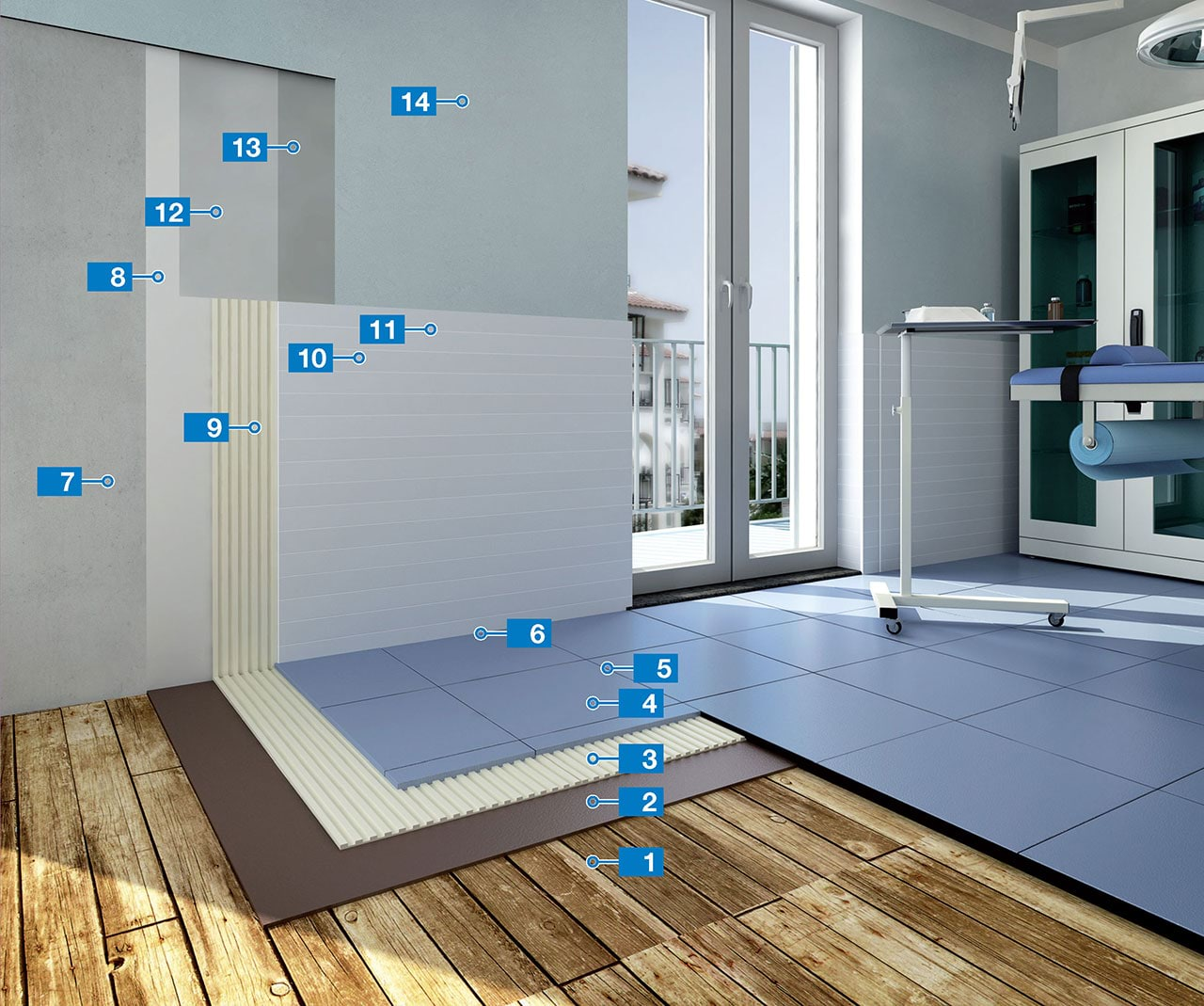 System for the installation of ceramic tiles on existing wooden ...