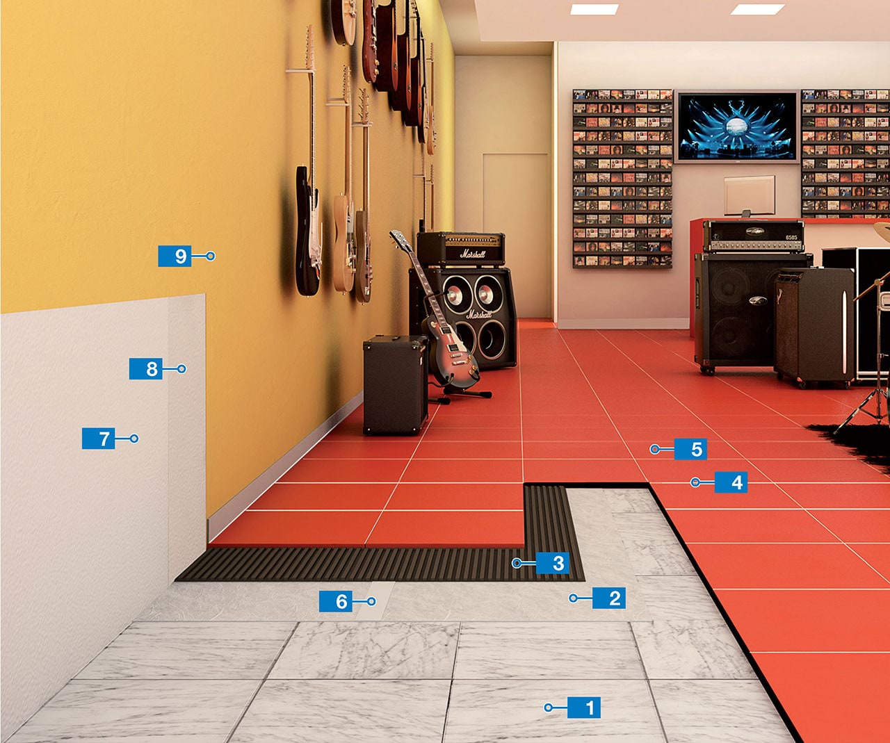 Removable System For Installing Flooring Mapei