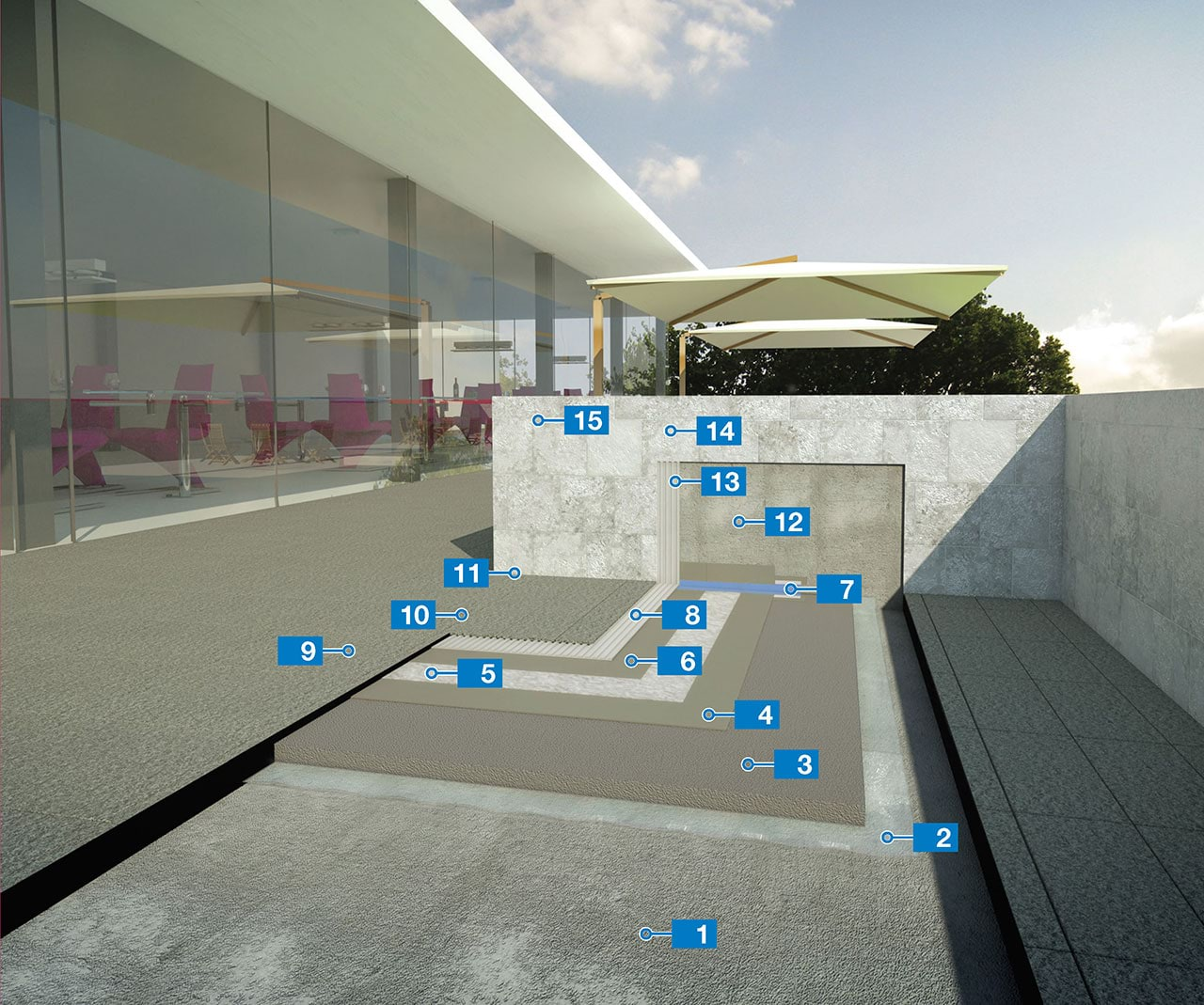Sistema Per Lu0027impermeabilizzazione E La Posa Di Ceramica Su Terrazze E  Coperture Piane