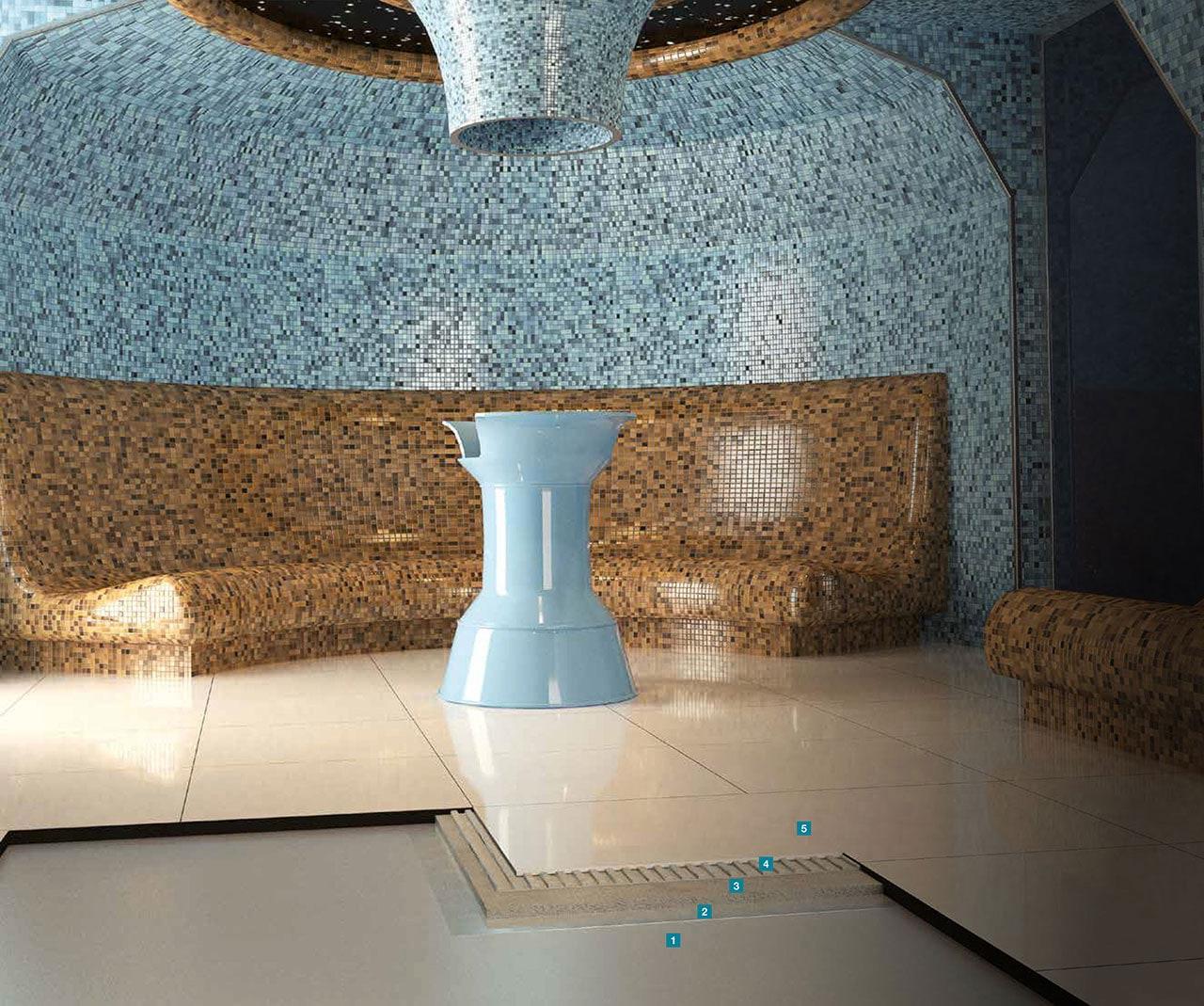 installation of ceramics inside SPA areas | Mapei