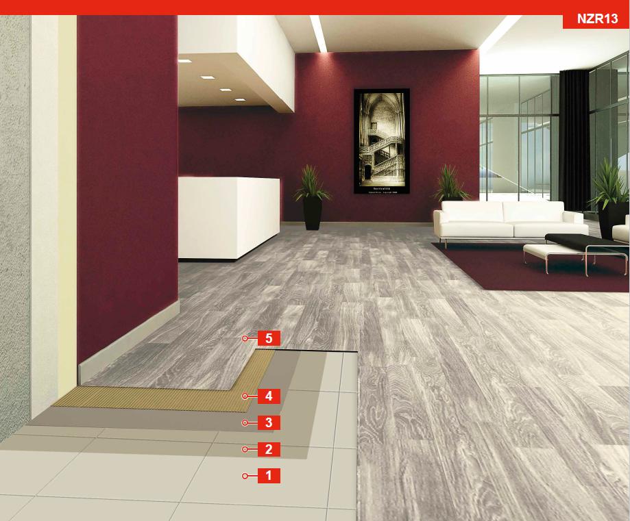 Nzr13 System For Installing Lvt Planks Over Existing Ceramic Tiles
